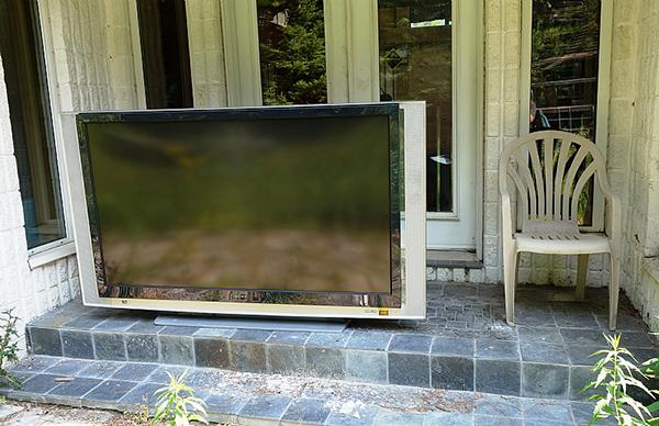 television left outside