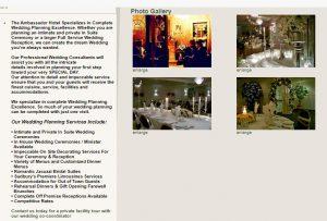 Ambassador Hotel wedding planning screenshot